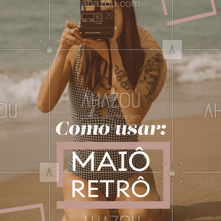 Com um aspecto mais romântico e um pouco mais fechado, esses modelos estão muito em alta!  #AhazouFashion  #tendencia #moda #modapraia #summer #praia #beach #fashion #verao
