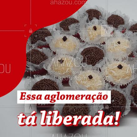 ⚠️ Atenção: aglomeração de brigadeiro pode! ?  #brigadeiro #ahazoutaste  #confeitaria #doces #docinhos