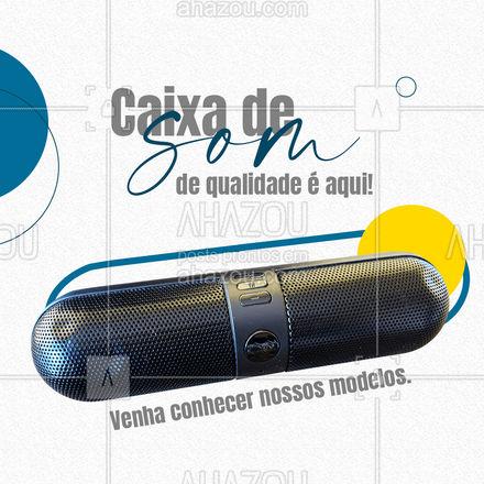 Você com certeza vai encontrar um modelo que lhe agrada! Temos diversas cores e diversos tamanhos. E o melhor: com bluetooth! Venha nos visitar e conhecer nossos excelentes produtos! #AhazouTec #caixadesom #bluetooth  #assistenciatecnica  #eletros