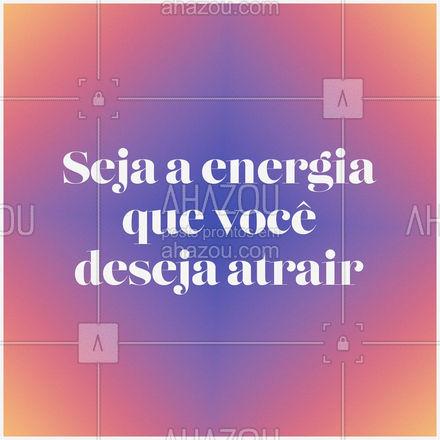 Quanto mais energia positiva você joga para o universo, mais energia positiva ele te devolve! ✨ #AhazouFé #espiritualidade