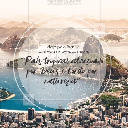 Conheça os destinos mais incríveis desse país maravilhoso que é o nosso Brasil. Entre em contato e conheça nossos roteiros. #viagens #agentedeviagens #viageminternacional #viagempelobrasil #AhazouTravel  #viajar #viagem #trip #agenciadeviagens