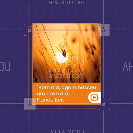 Que esse dia seja INCRÍVEL para todos nós! 🤩 #bomdia #nandoreis #musica #AhazouEdu  #instrumentos  #aulademusica