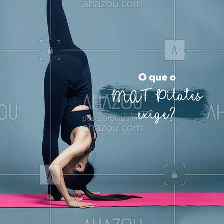 Exige consciência corporal, força, alongamento e equilíbrio. Você irá conhecer o seu corpo com a prática dessa atividade. Tem coisa melhor, marque sua aula experimental! #AhazouSaude #pilatesbody #pilates #fitness #workout #pilateslovers #matpilates