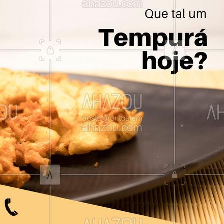 Para o seu dia ficar perfeito, que tal pedir um Tempurá? Faça seu pedido pelo fone: ? (XX) (XXX-XXXX) e se delicie com o tempurá! ?? #ahazoutaste #comidajaponesa #japanesefood #japa #tempurá