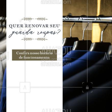 Visite nossa loja e saia com looks para renovar seu guarda-roupa inteiro! Confira nossos horários e aproveite.  #AhazouFashion  #OOTD #modaparahomens #fashion #modamasculina #style #menswear