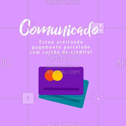 Agora você pode garantir meus produtos parcelando, aproveite! #AhazouRevenda #prontaentrega #revendedoras #produtosdebeleza #revenda #pagamento