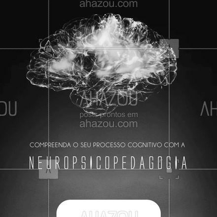 Compreender o seu processo cognitivo é o primeiro passo para a melhora da aprendizagem. Quer saber mais sobre a neuropsicopedagogia? Entre em contato!📲 #neuropsicopedagogia #AhazouSaude #headspace  #viverbem  #mentalhealth  #saudemental