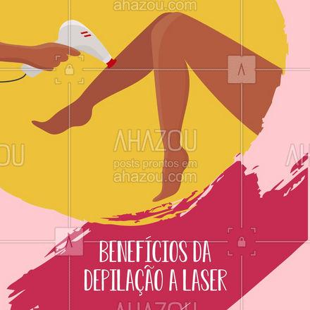 A melhor opção pra quem não aguenta mais depilação é o laser, além de durar muito acaba sendo muito mais econômico e ainda além de tudo indolor ?  #AhazouBeauty  #bemestar #epilação #beleza #depilação #foliculite #carrosselahz #depilaçãoalaser #dicas #beneficios