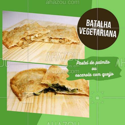 Um pastelzinho vegetariano cai muito bem não é mesmo? E nessa batalha qual sabor ganha o seu paladar e o seu ❤? Conta para a gente lá nos comentários! #foodlovers #instafood #pastelaria #ahazoutaste #pastelrecheado #amopastel #pastel #enquete