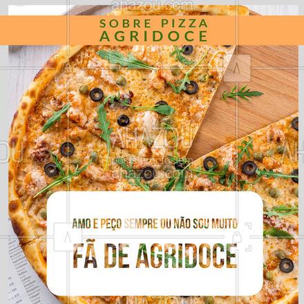 Polêmica! A pizza agridoce tem quem ame e tem quem não goste de jeito nenhum! E aí, qual sua opinião sobre esse sabor? Conta para gente lá os comentários?! #pizzaria #pizza #ahazoutaste #pizzalife #pizzalovers #enquete #sabores #batalhadesabores