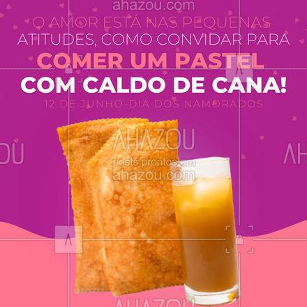Com certeza esse é o melhor programa de Dia dos Namorados. Faça seu pedido! ?  #diadosnamorados #pastel #ahazoutaste  #pastelrecheado #pastelaria #amopastel