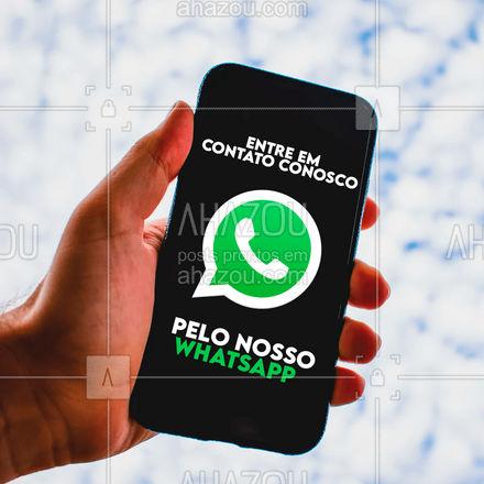 Estamos disponíveis e atentos para te atender por nosso whatsapp! #ahazou #atendimento #whatsapp #zap #comunicado