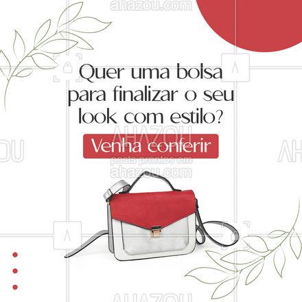 Encontre a bolsa perfeita para você aqui! Venha conferir nossa coleção! #AhazouFashion  #tendencia #estilo #bolsas #coleção