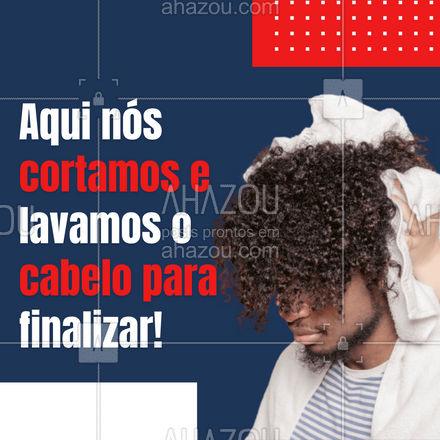 Serviço completo? É aqui mesmo! Vem pra cá! #AhazouBeauty #barberLife  #barbeirosbrasil  #barbeiro  #barberShop  #barbearia  #barba  #cuidadoscomabarba  #barber #lavagem #cabelo #serviços #cliente