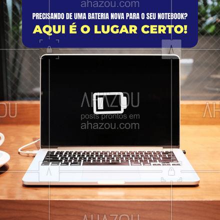 Seu notebook vai ficar como novo! Venha nos visitar e troque a bateria do seu notebook! #computador #tecnologia #computadores #AhazouTec #celulares #AssistenciaTecnica #assistencia #tablet