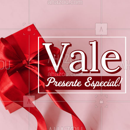 Demostre todo o seu carinho para alguém especial, com o nosso vale presente! #presenteperfeito #presente #ahazou #presenteideal #valepresente #ahazou