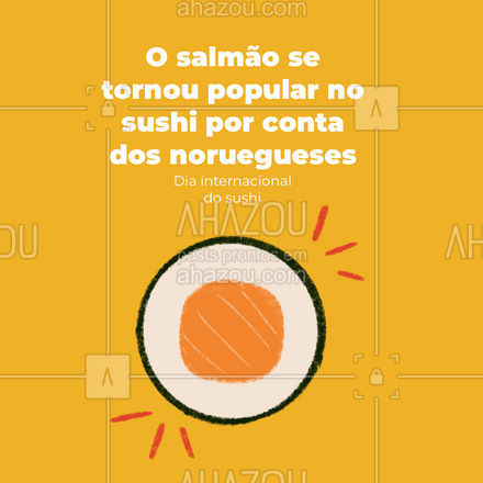 Se você ama sushi de salmão agradeça aos noruegueses! #ahazoutaste  #japa #sushidelivery #sushitime #japanesefood #comidajaponesa #sushilovers