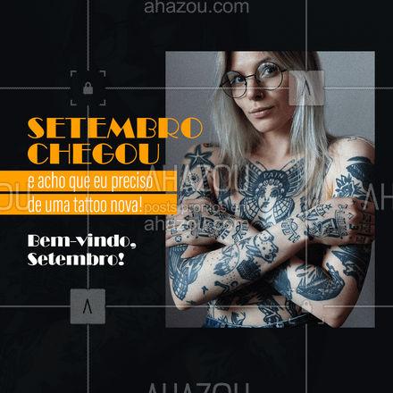 Que Setembro você ouça muito o barulho  da máquininha.?   #setembro #tattoo #AhazouInk #bodypiercing #estudiodetattoo #tatuagem