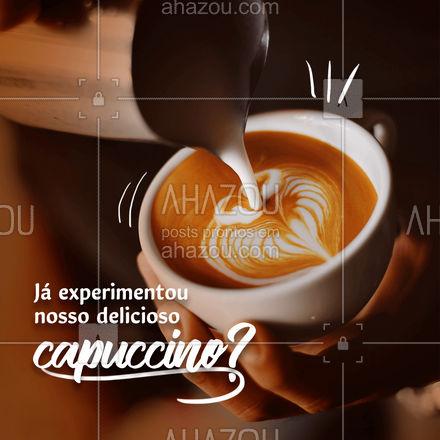 Ainda não? Você não sabe o que está perdendo. Ele é feito com gotas de chocolate, café expresso e leite cremoso. Venha experimentar! #ahazoutaste #cafeteria  #café  #coffee  #barista  #coffeelife