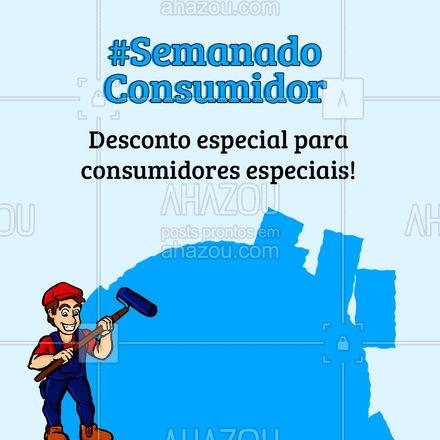 Comemore a semana do consumidor com esse desconto especial! ? #AhazouServiços #serviçosparacasa #pintor