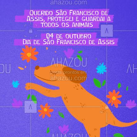 Querido são Francisco obrigado por cuidar e proteger todos os animais, principalmente aqueles que vivem desamparados pelas ruas! #cats #dogs #petlovers #AhazouPet #anaimais #pets #cachorro #gato #SãoFranciscodeAssis #diadesãofranciscodeassis