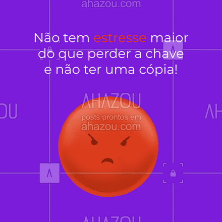 Tem que ter muito autocontrole quando se perde a chave e não tem uma cópia! #AhazouServiços #chave #chaveiro #serviços #AhazouServiços