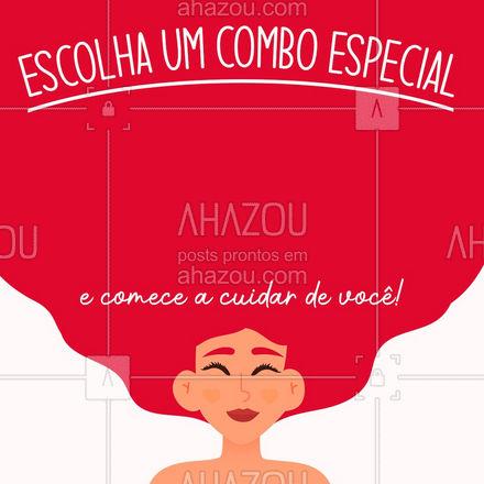 Me diz, que desses é mais a sua cara? ? Agende o seu combo especial! ? #combos #especial #beleza #ahazoubeauty #beauty #promocional