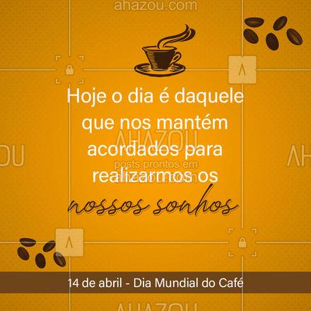Hoje o dia é desse néctar dos deuses e para comemorar, venha provar nossas delícias feitas de café! #padaria #panificadora #bakery #confeitaria #ahazoutaste #bolo #doces #confeitariaartesanal #docinhos #foodlovers#cafe #diamundialdocafe #sobremesadecafe #cafequentinho #coffelovers #coffe