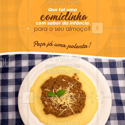 Se tem uma comida que nos leva de volta a infância é a polenta cremosa! Então não perca tempo peça a sua e viaje na memória e no sabor! #restauranteitaliano #comidaitaliana #ahazoutaste #italianfood #italy #cozinhaitaliana #polenta