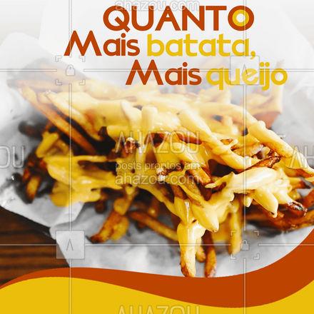 Qual o tamanho da sua fome? Escolha sua porção de batata frita com queijo! #batatafrita #queijo #batatacomqueijo #ahazoutaste #artesanal #ilovefood #instafood