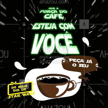 Ei Jedi, que tal um café para comemorar o Dia de Star Wars? Entre em contato e peça já o seu! #cafeteria #café #coffee #ahazoutaste #barista #coffeelife #StarWars #diadestarwars