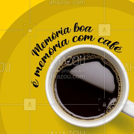 O café não te deixa esquecer. Além de gostoso, ele é um poderoso aliado da sua memória. A cafeína é conhecida por fortalecer a retenção de certas memórias depois de 24 horas. Quem não esquece de tomar café, não esquece de nada.  #ahazoutaste  #café #coffee #memória #cafeina