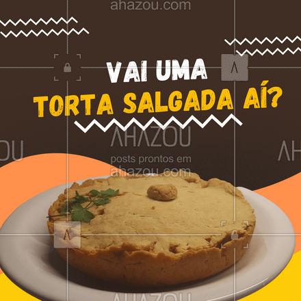 Que tal uma torta salgada para hoje? Confira as opções de sabor e peça já a sua! #eat #ilovefood #instafood #ahazoutaste #foodlovers #torta #tortasalgada #delivery #entrega