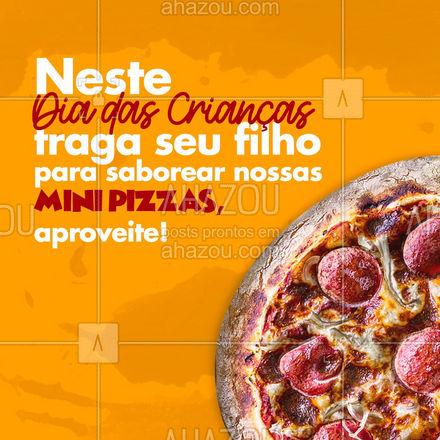 As melhores mini pizzas você encontra aqui, peça já! 🍕 #ahazoutaste #pizzaria #pizza #pizzalife #pizzalovers #minipizza