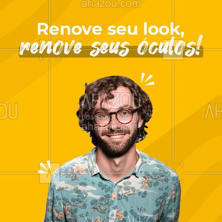 Nós te ajudamos a renovar o seu look com óculos ideais para você! Corre e aproveita! ? #óculos #glasses #AhazouÓticas