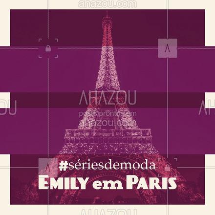 A série gira em torno de Emily,  uma jovem norte-americana que viaja para representar sua empresa em uma agência de marketing em Paris. A série é perfeita para quem gosta de muito romance e moda, já que a Emily é fashionista e tem os melhores looks em um cenário incrível que é Paris. A série tem poucos episódios mas vale a pena investir seu tempo nela.  #dica #emilyinparis #AhazouFashion #moda #fashion