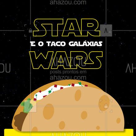 Ei Jedi! Que tal o melhor taco das galáxias para comemorar o dia de Star Wars? Entre em contato e peça já o seu! #comidamexicana #cozinhamexicana #vivamexico #ahazoutaste #vivamexico #texmex #nachos #StarWars #diadestarwars