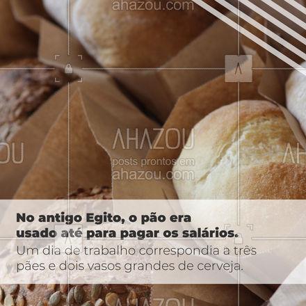 Hoje é dia mundial do pão e resolvemos trazer algumas curiosidades sobre esse alimento tão amado por muitos, me diz nos comentários se você já sabia disso 🍞 #ahazoutaste #pão #diadopão #padaria  #pãoquentinho #curiosidade #cafédamanha  #panificadora