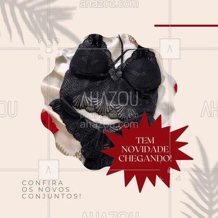 Quem aí ama um conjuntinho novo? Confira a nova coleção! #moda #modafeminina #AhazouFashion #lingerie #modaintima #coleçao #modelos