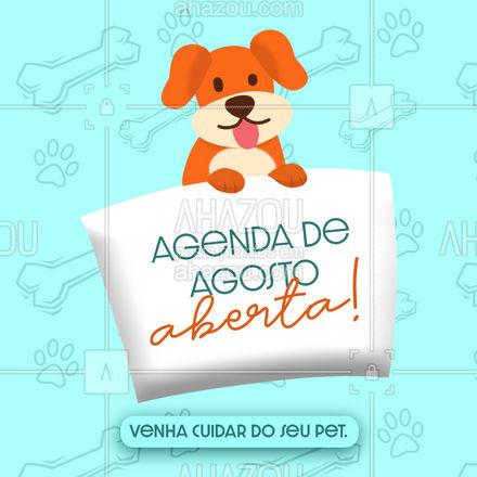 Esperamos o seu pet, agende um horário! #AhazouPet #agenda #agosto  #cats  #petlovers  #ilovepets  #dogs