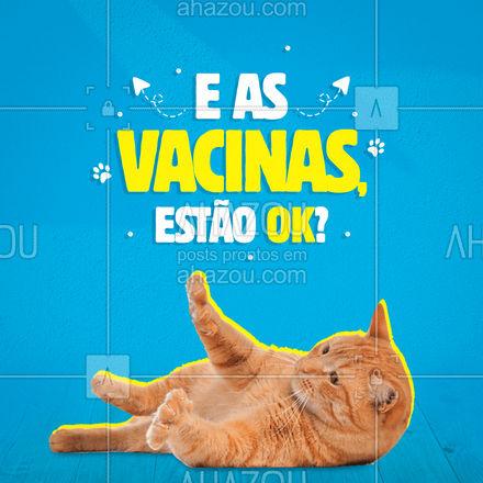 Mantenha as vacinas do seu pet em dia! Essa é a garantia de que seu bichinho estará seguro e evitará qualquer problema! Tenha uma carteirinha de vacinação! ? #AhazouPet #medicinaveterinaria #clinicaveterinaria #veterinario #AhazouPet
