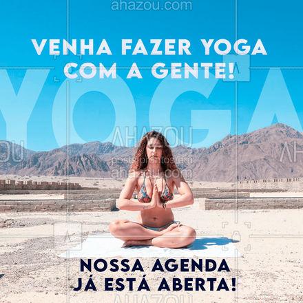 A hora de fosse começar na yoga é agora! Aproveite nossa agenda aberta e matricule-se já! #meditation #yogalife #yoga #AhazouSaude #namaste #yogainspiration #agenda #agendaaberta #horarios