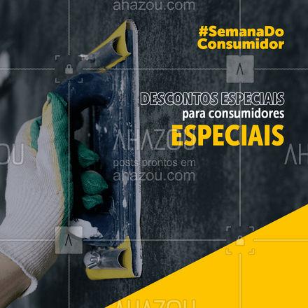 A semana do consumidor está cheia de descontos nos serviços! Solicite um orçamento! ? #AhazouServiços #pedreiro #construção