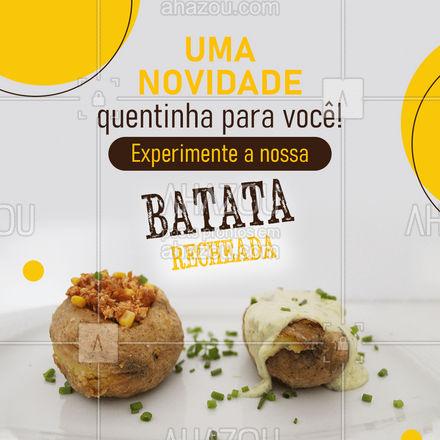 Recheadas de sabor e ingredientes de primeira qualidade, apresentamos à você nossa deliciosa Batata recheada! Peça já a sua! #batatarecheada #ahazoutaste  #restaurante #ilovefood #alacarte #instafood #foodlovers #eat