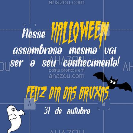 Afinal, um cérebro desses espanta todo mundo, fala sério?! ??  #Halloween #DiadasBruxas #AhazouEdu #educação