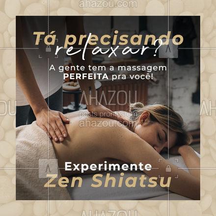 Invista no seu bem-estar! Você merece tirar uma horinha para se cuidar, né? #AhazouSaude  #quickmassage #massoterapia #relax #massoterapeuta #massagem