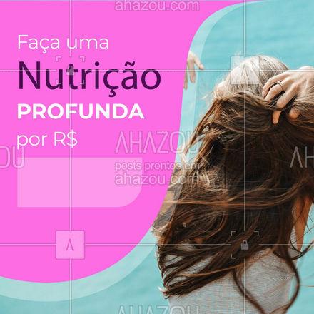 Está achando que seus cabelos estão ressecados ou sem vida?  Então está na hora de fazer uma nutrição profunda! Entre em contato com a gente pelo nosso WhatsApp ? (XX) XXXX-XXXX e agende seu horário! ?  #NutriçãoCapilar #cabelos #CabeloFeminino #AhazouBeauty  #salaodebeleza #hair #cabeloperfeito