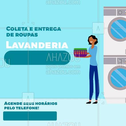 Não precisa se preocupar com nada, coletamos suas roupas sujas e entregamos dobradas, passadas e limpas na porta da sua casa! #lavanderia  #lavagem #roupas