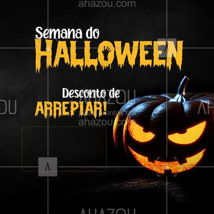 Preparamos um descontão para a semana de Halloween, venha conferir!  ? #ahazou  #promoção #desconto #preço #halloween