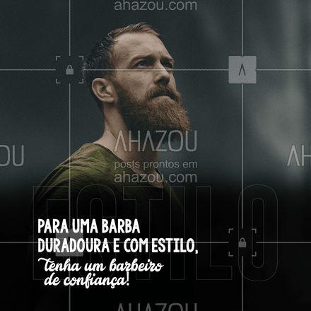 Ter um barbeiro de confiança na hora de cuida da sua barba vai fazer toda diferença no seu visual, então não arrisque, venha nos conhecer! #AhazouBeauty #barberLife #barbearia #barba #barber